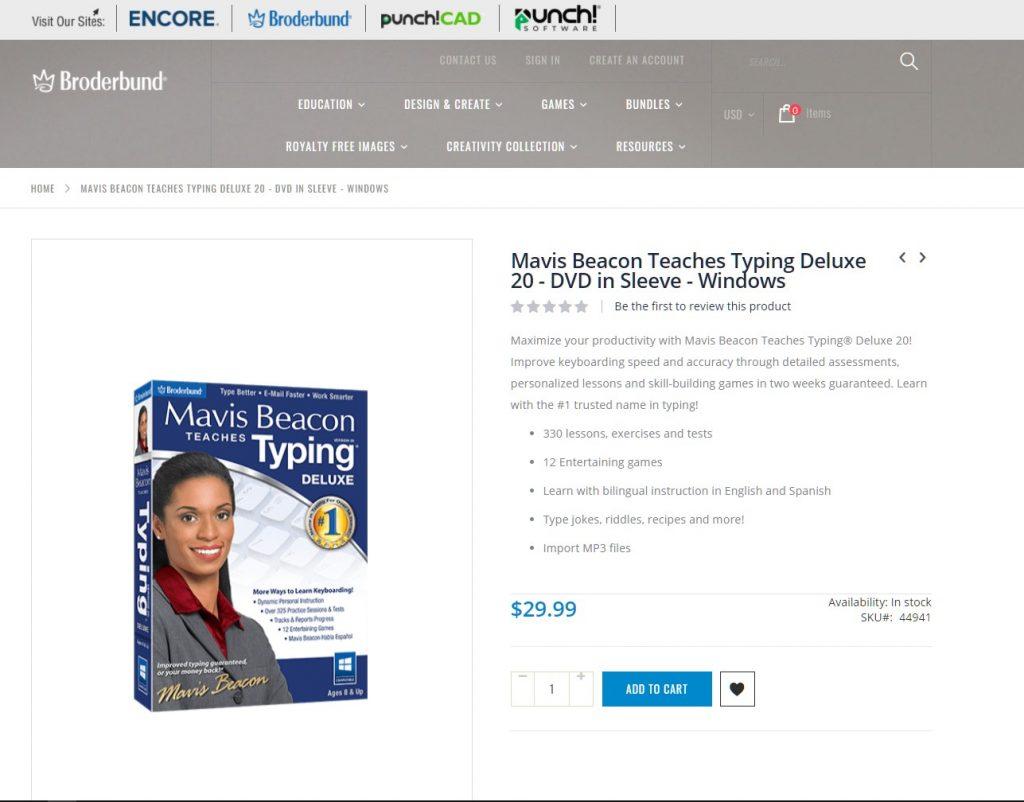 Mavis Beacon Teaches Typing Tutor Software