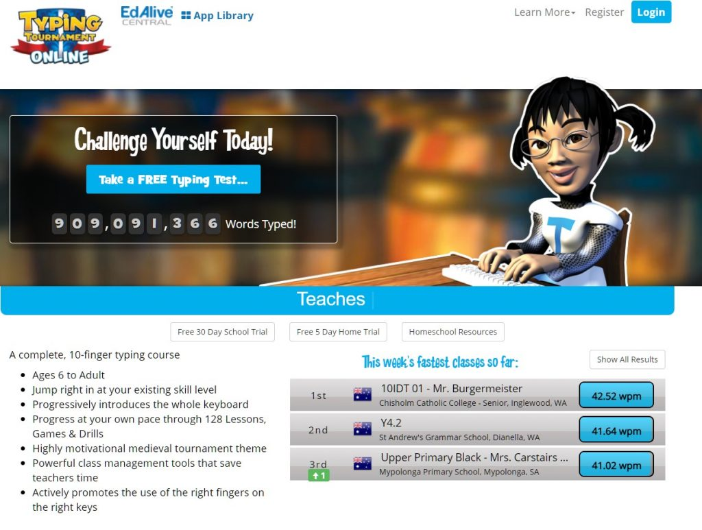Typing Tournament Software